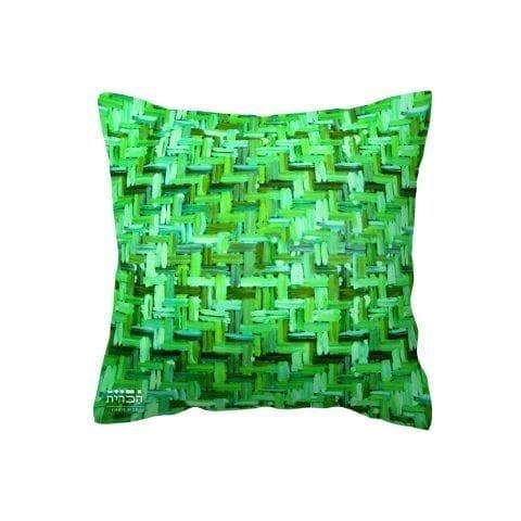 כרית נוי ירוקים טבעיים