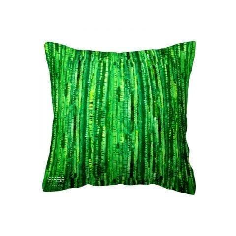 כרית בצבעי טבע ירוק