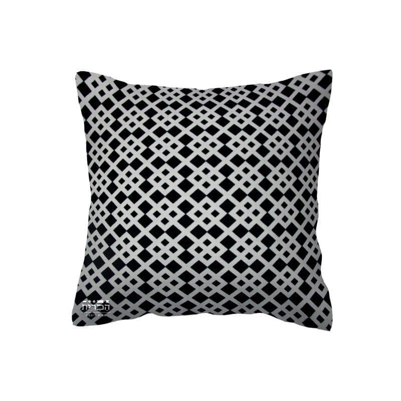 כרית גאומטרית בשחור לבן