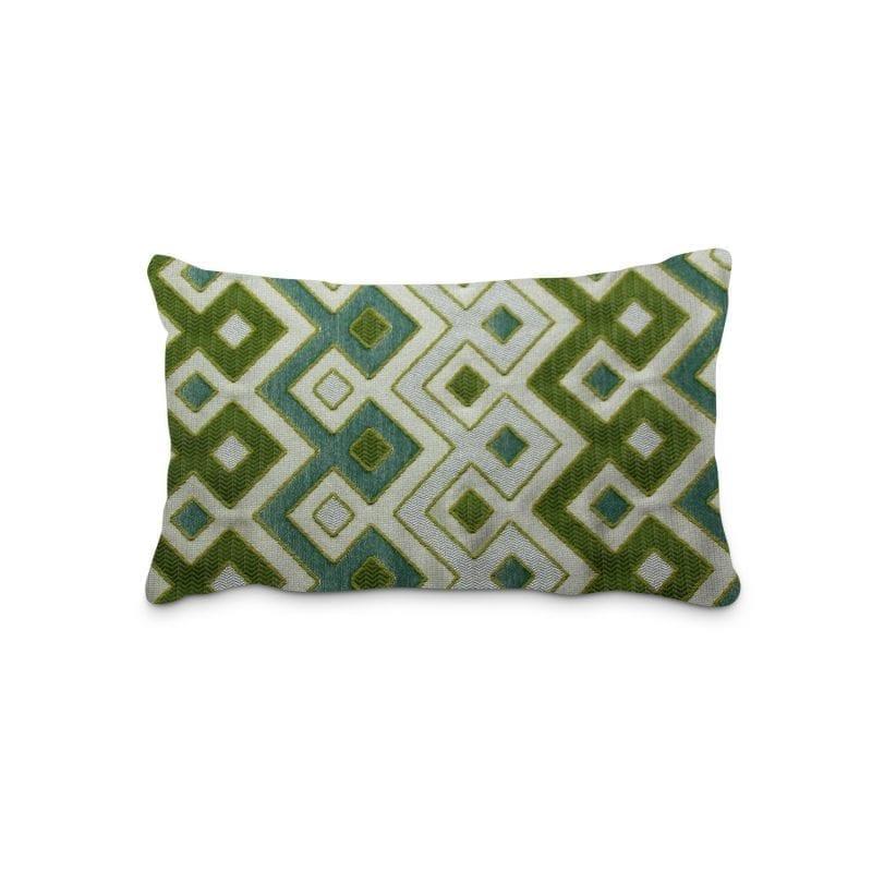 כרית נוי צורות בגוון ירוק