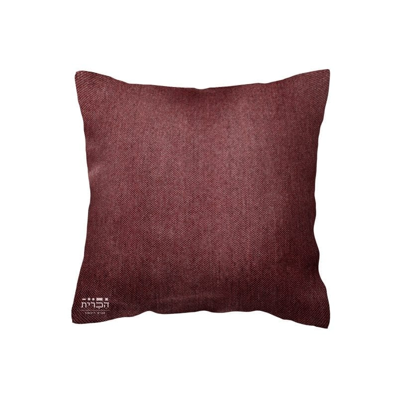 כרית נוי חלקה בגוון סגול ורוד